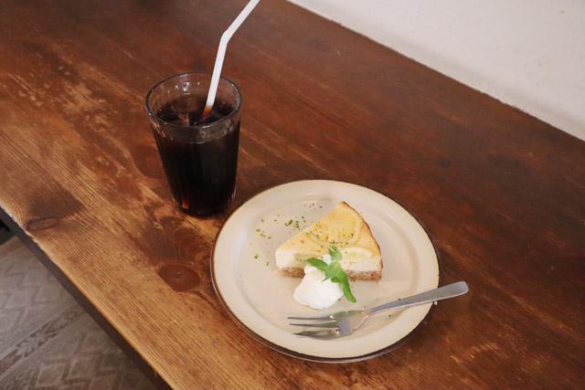 cafe・わかば堂 「ケーキセット(ドリンク付き)」950円(税込)