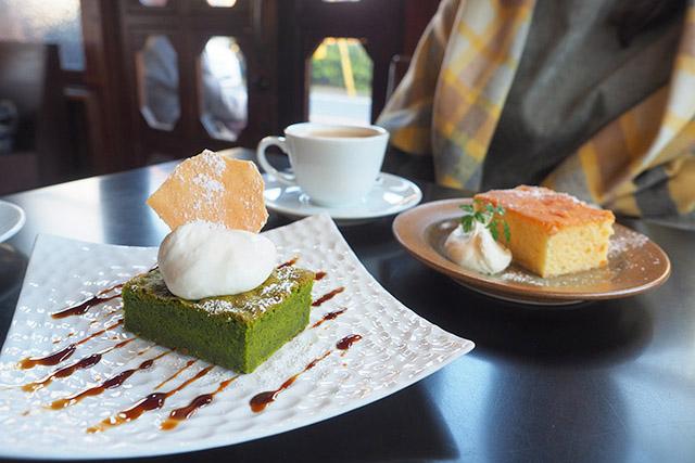 カヤバ珈琲 「抹茶のガトーショコラ」700円(税込)