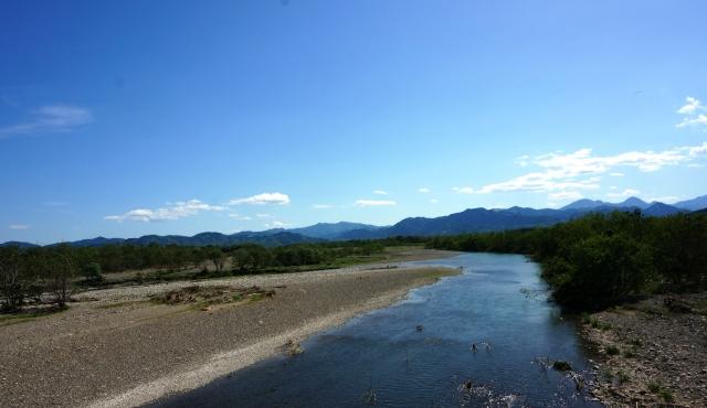 神流川の河川敷