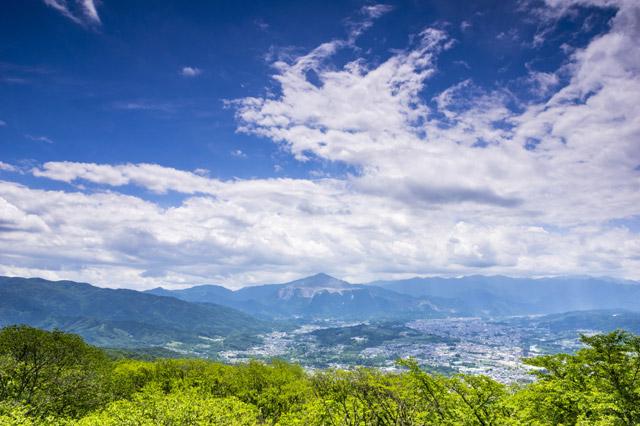 美の山公園 山頂からの眺め