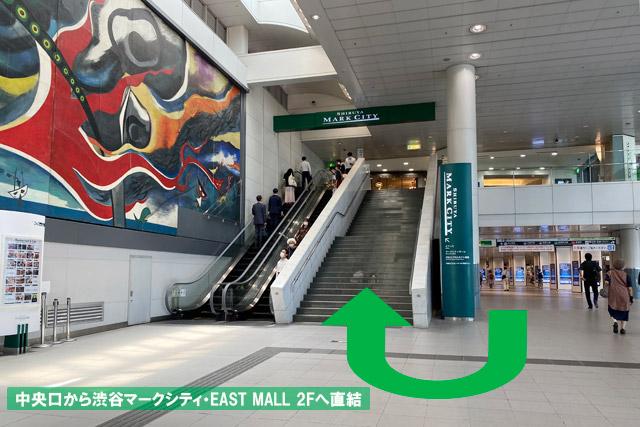 京王井の頭線中央口は「EAST MALL 2F」に直結しています