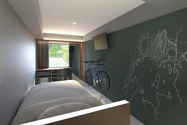 自転車持ち込みOKの客室