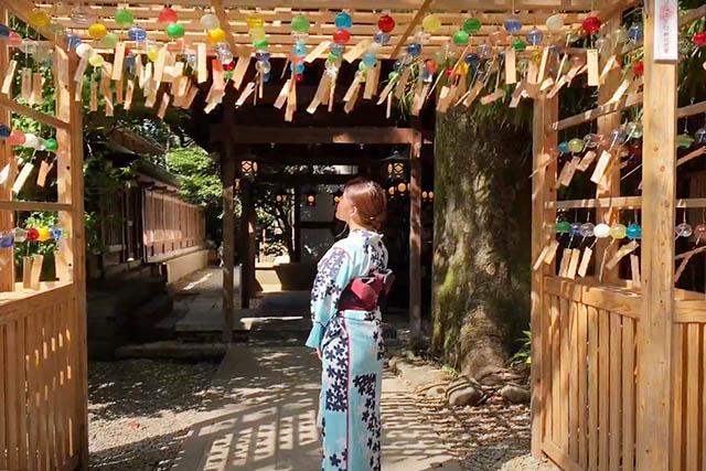 川越氷川神社の「縁むすび風鈴」