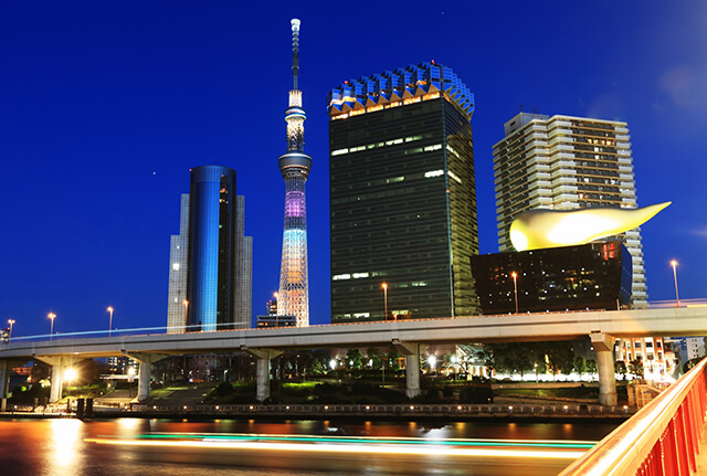 吾妻橋からの夜景