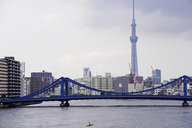 隅田川大橋からの眺め
