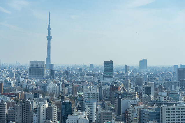 文京シビックセンターからの眺め