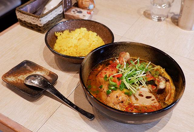 「チキンと野菜のスープカレー」 1,450円(税込)~