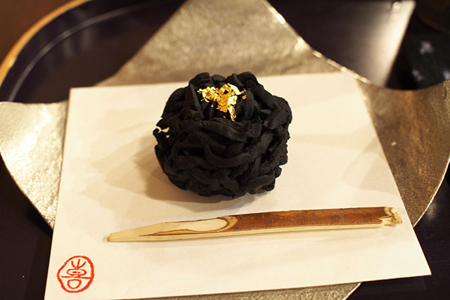 A sample of Wagashi (Japanese Sweets) at Kazu Nakashima