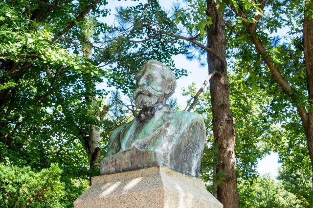 Bust of William S. Clark at Hokkaido University