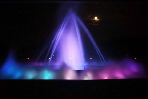A Sea of Fountain show at night