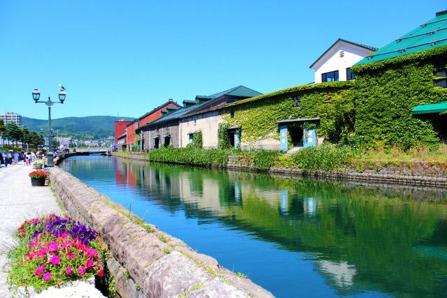 Otaru Canal during green season