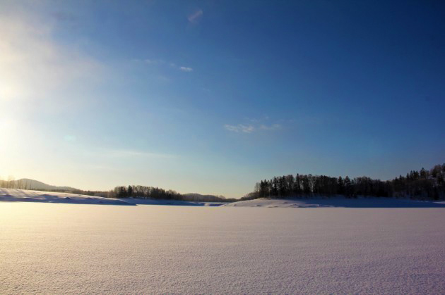 Lake Shumarinai during winter