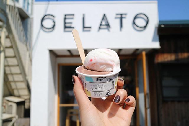 冰淇淋店「GELATERIA SANTi」