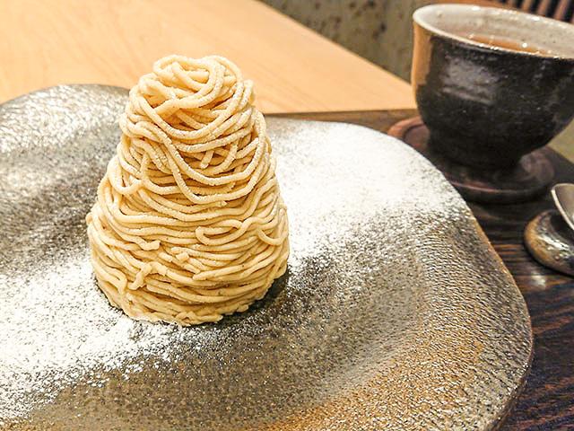 蒙布朗組合,搭配嚴選焙茶 1600日圓