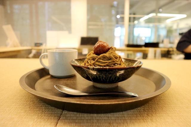 「焙茶與蒙布朗」的套餐組合 1250日圓