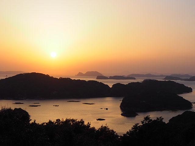 九十九島夕陽美景
