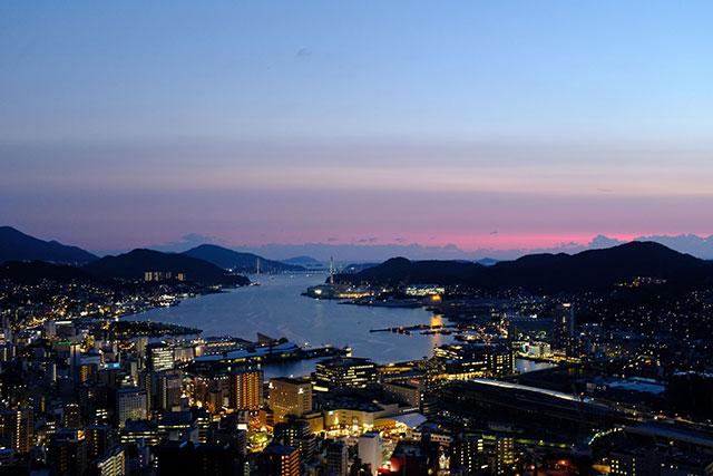 稻佐山號稱「價值千萬的夜景」