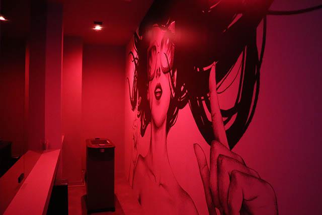 Smoking room is also designed by Shohei Otomo
