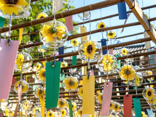 These windbells are a good to decorate in summer