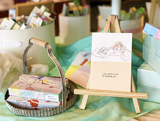 Limited packages available for only few months  in collaboration with an illustrator, Misaki Tanaka
