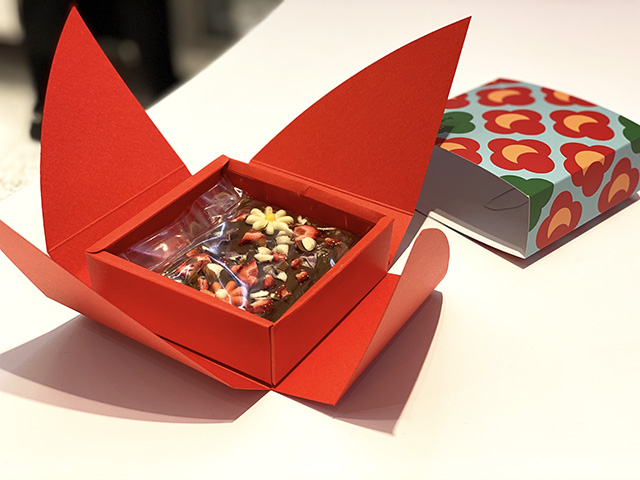 My very own KitKat packaged in Tsubaki box ready to be taken home
