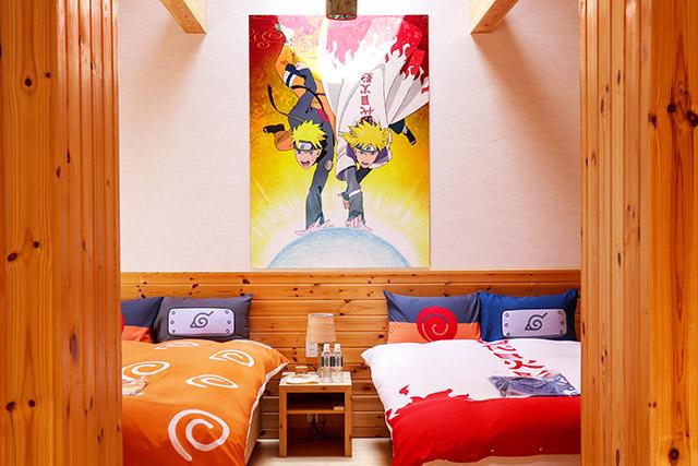 Main bedroom with Naruto and Hokage beddings Ⓒ岸本斉史 スコット/集英社・テレビ東京・ぴえろ
