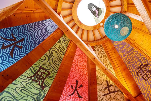 Five Great Shinobi banners with Orochimaru in the skylight Ⓒ岸本斉史 スコット/集英社・テレビ東京・ぴえろ