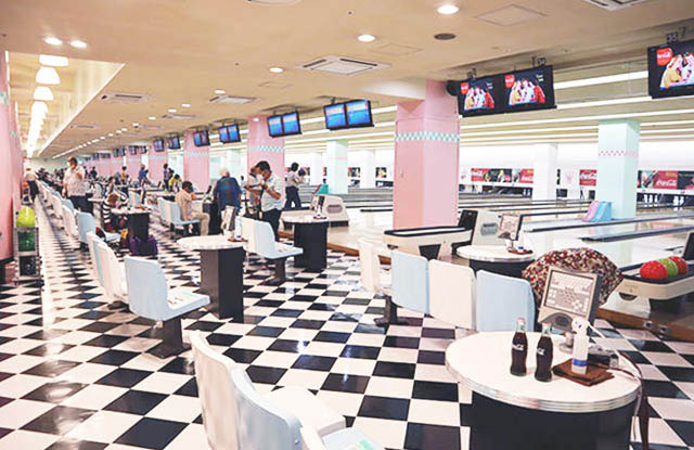 Bowling and games area