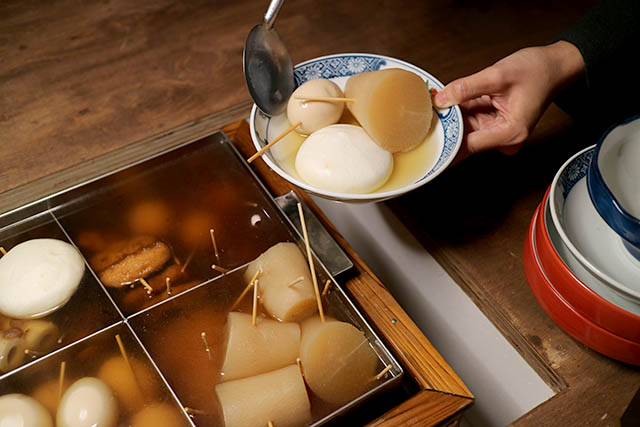 Oden served at Tokyo Oden Love Story