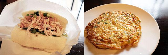 饅頭夾雞肉 390日圓(含稅)/ 菜脯蛋 290日圓(含稅)