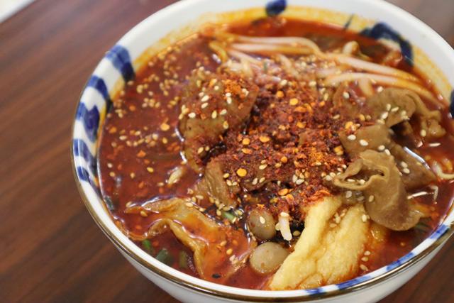 Chongqing noodle (Xia Mian) 800yen (tax inclusive)