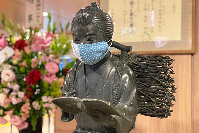 小田原站 金次郎銅像