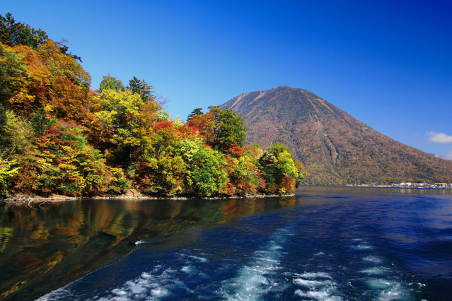 Lake Chuzenji and Mt. Nantai