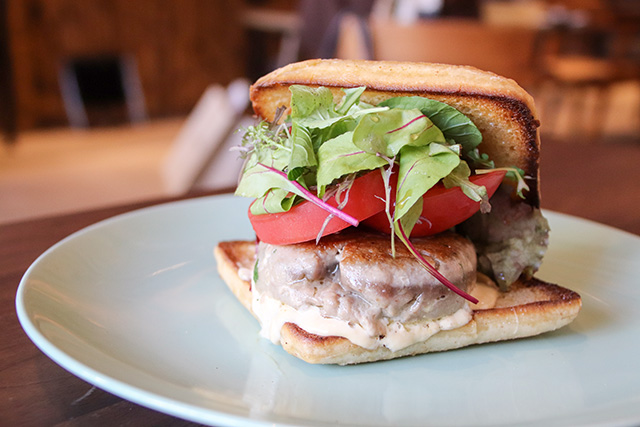 Manoa burger (tuna) served only on weekends and holidays between 11am to 6pm