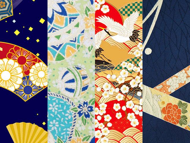 일본 역사의 문양을 볼 수 있는 기모노