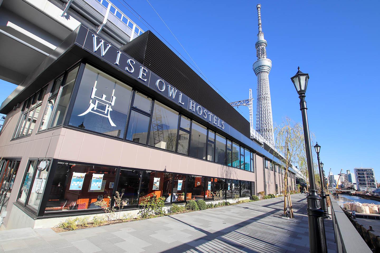 도쿄 미즈마치 새로운 호텔 등장! 'WISE OWL HOSTELS RIVER TOKYO'로!