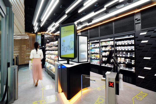 TOUCH TO GO (unmanned AI payment kiosk) at Takanawa Gateway Station