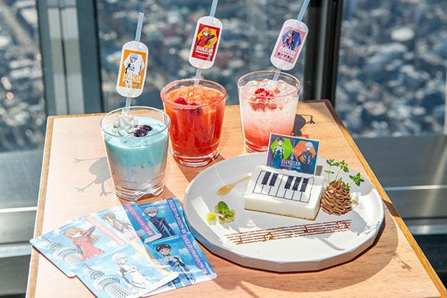 以EVA角色所設計的原創菜單&原創杯墊 / (C)カラー (C)TOKYO-SKYTREE