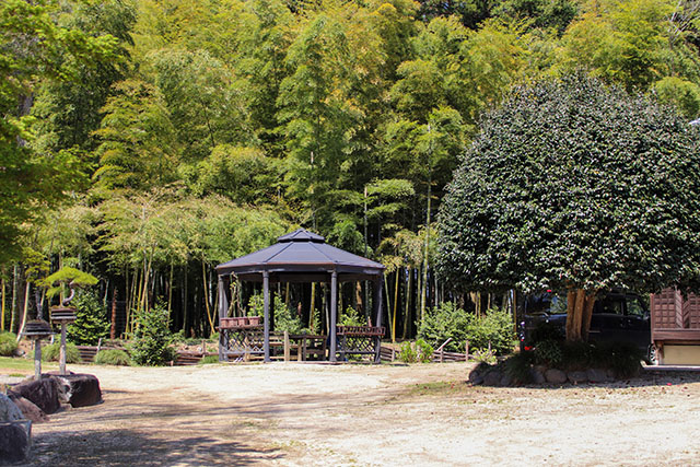 Gazebos next to the house is a perfect place to have picnic with friends and family