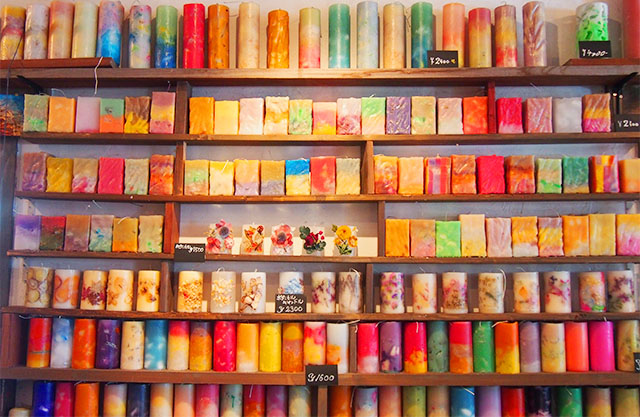 candle secret 600円~3,000円までの価格帯(大きさによって異なる)
