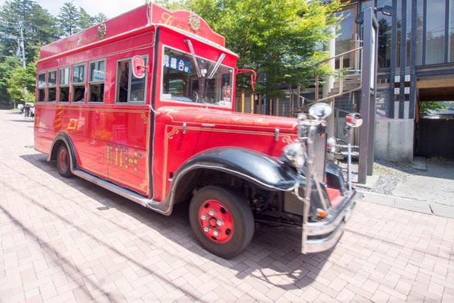 絶景を求めて「赤バス」でGO!