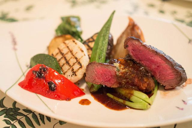 「レストラン カズラベ」 アルプス牛のランプグリルセット