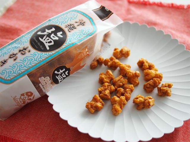 沖縄塩おかき 黒糖 458円