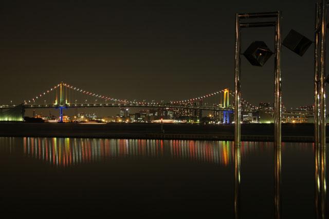 【晴海埠頭駅】「晴海埠頭」から見えるレインボーブリッジ