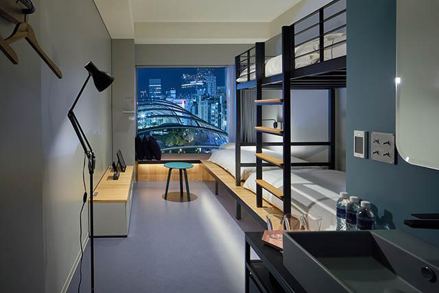 〈6階〉一部のお部屋からは宮下公園を見晴らすことができます
