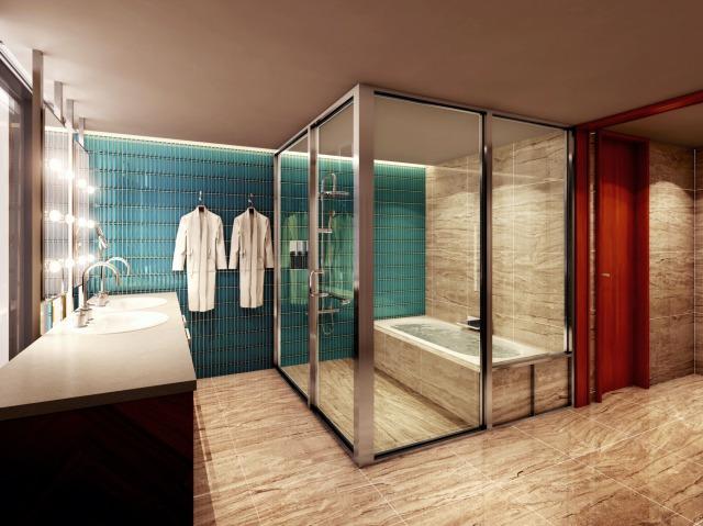 2ルーム仕様の贅沢なプレミアムツイン(51㎡ )のバスルーム