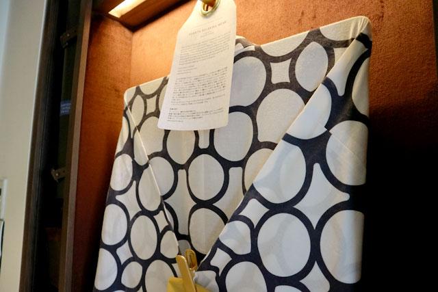 キンプトン新宿東京 アーティスト・高橋理子(タカハシヒロコ)が手掛けた浴衣