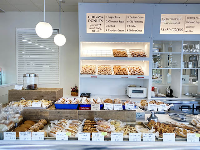 〈Chigaya Bakery〉可愛らしいお店のヴィジュアルも人気