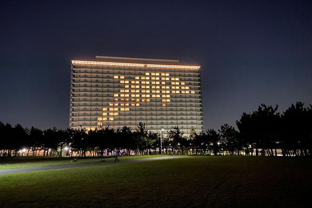 東京ベイ東急ホテル 遊び心あふれる窓アートイルミネーション(営業再開前)