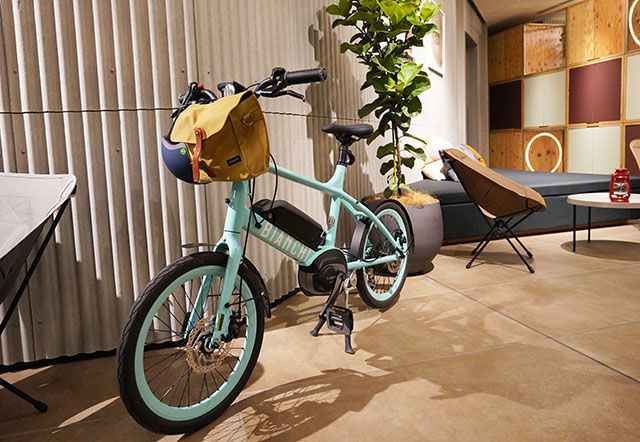 用意してもらった自転車はとっても可愛い!